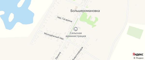 Улица Ленина на карте села Большеромановки с номерами домов
