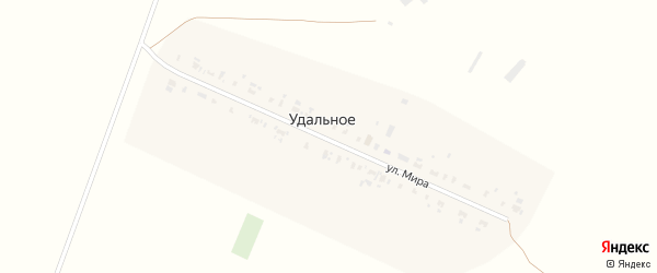 Улица Мира на карте Удального села с номерами домов