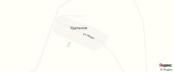 Карта Удального села в Алтайском крае с улицами и номерами домов