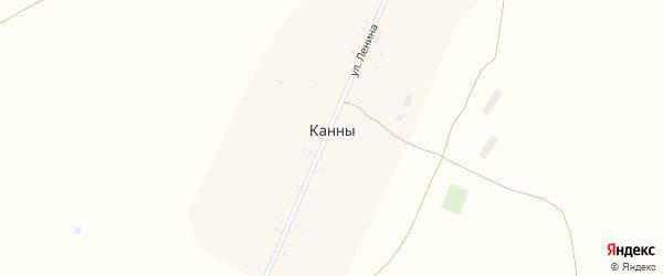 Молодежная улица на карте села Канны с номерами домов