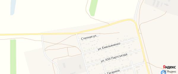 Степная улица на карте Октябрьского поселка с номерами домов