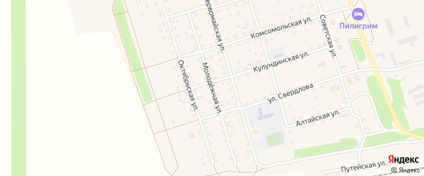 Молодежная улица на карте Октябрьского поселка с номерами домов