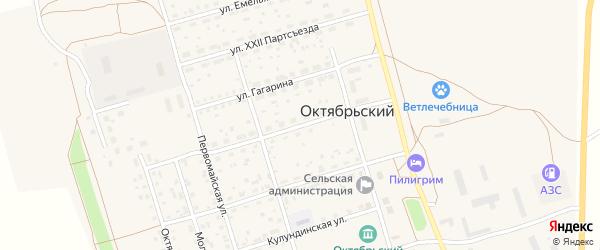 Красновосточная улица на карте Октябрьского поселка с номерами домов