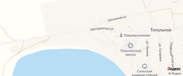 Набережная улица на карте Топольного села с номерами домов