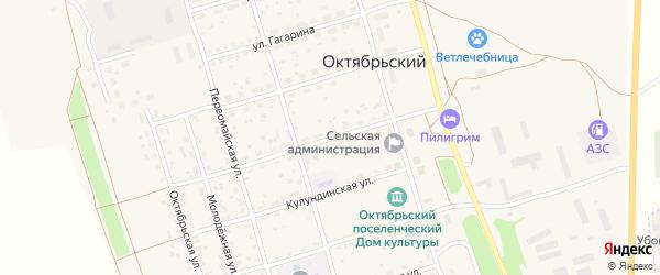 Комсомольская улица на карте Октябрьского поселка с номерами домов