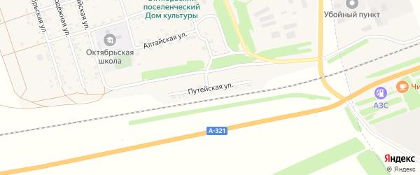 Путейская улица на карте Октябрьского поселка с номерами домов