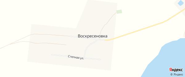 Карта села Воскресеновки в Алтайском крае с улицами и номерами домов