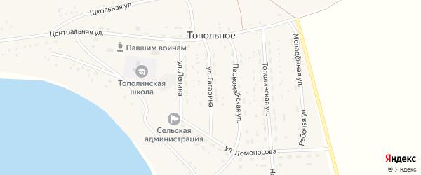 Улица Гагарина на карте Топольного села с номерами домов