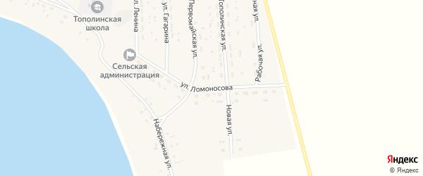 Улица Ломоносова на карте Топольного села с номерами домов