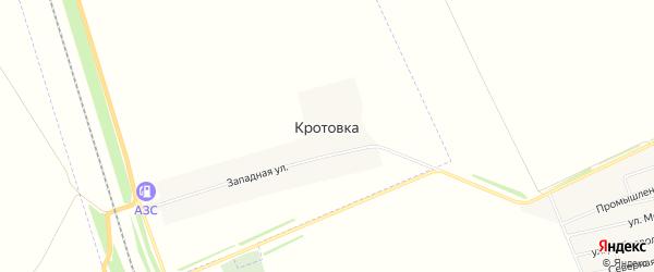 Карта села Кротовки в Алтайском крае с улицами и номерами домов