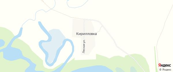 Карта села Кирилловки в Алтайском крае с улицами и номерами домов