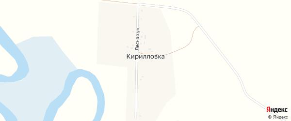 Лесная улица на карте села Кирилловки с номерами домов