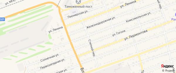 Степной переулок на карте села Кулунды с номерами домов