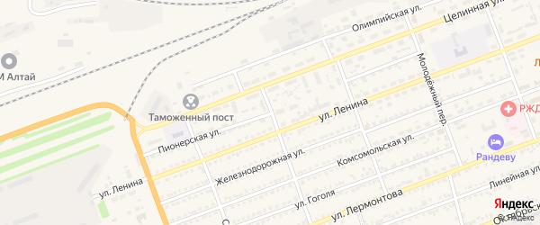 Пионерская улица на карте села Кулунды с номерами домов