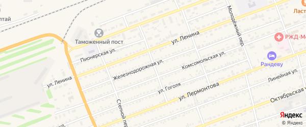Детсадовский переулок на карте села Кулунды с номерами домов