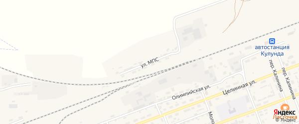 Улица МПС на карте села Кулунды с номерами домов