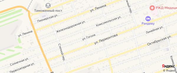 Улица Гоголя на карте села Кулунды с номерами домов