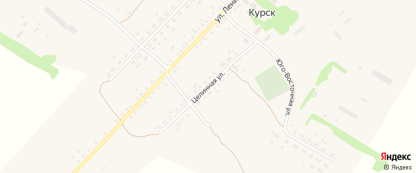 Целинная улица на карте села Курска с номерами домов