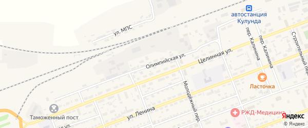 Олимпийская улица на карте села Кулунды с номерами домов