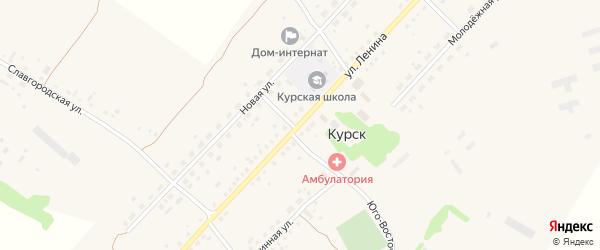 Улица Ленина на карте села Курска с номерами домов