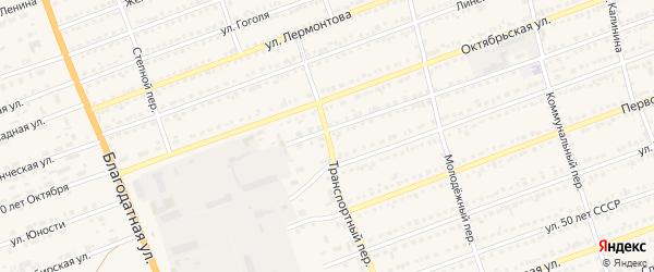 Транспортный переулок на карте села Кулунды с номерами домов