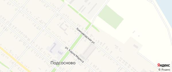 Химзаводская улица на карте села Подсосново с номерами домов