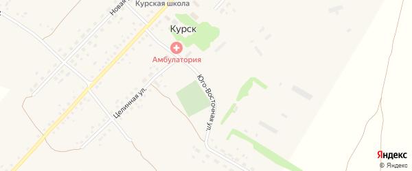 Юго-Восточная улица на карте села Курска с номерами домов