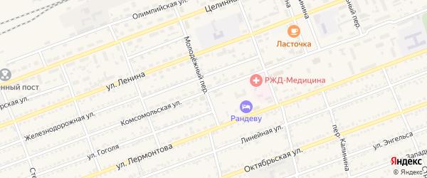 Комсомольская улица на карте села Кулунды с номерами домов