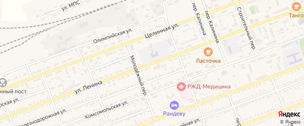Улица Ленина на карте села Кулунды с номерами домов