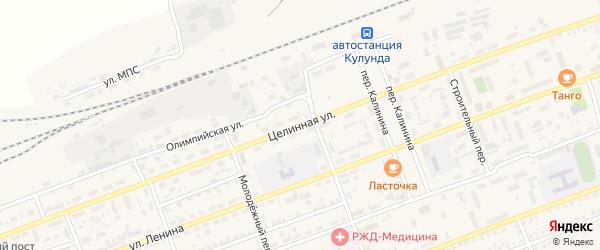 Целинная улица на карте села Кулунды с номерами домов