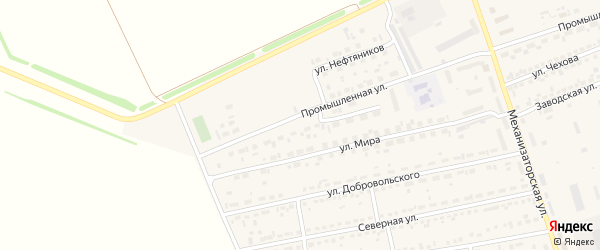 Улица Энтузиастов на карте села Кулунды с номерами домов