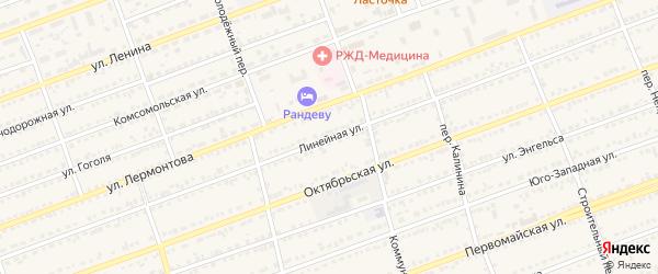 Линейная улица на карте села Кулунды с номерами домов