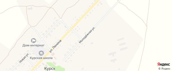 Молодежная улица на карте села Курска с номерами домов