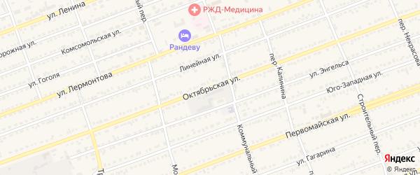 Октябрьская улица на карте села Кулунды с номерами домов