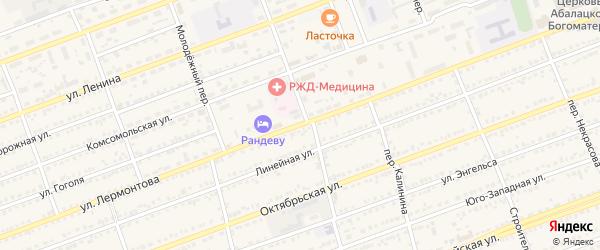Улица Лермонтова на карте села Кулунды с номерами домов