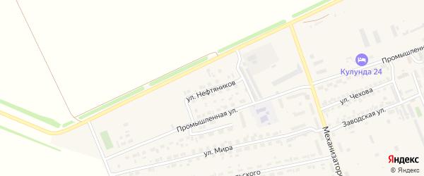 Улица Нефтяников на карте села Кулунды с номерами домов