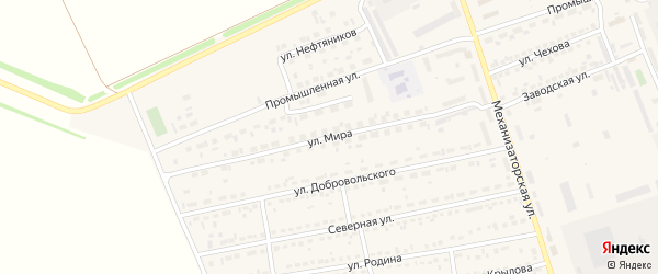 Улица Мира на карте села Кулунды с номерами домов