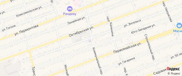 Коммунальный переулок на карте села Кулунды с номерами домов