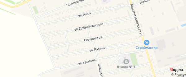 Северная улица на карте села Кулунды с номерами домов