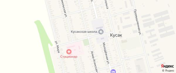 Алма-Атинская улица на карте села Кусака с номерами домов