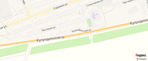 Кулундинская улица на карте села Кулунды с номерами домов