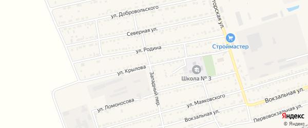 Улица Крылова на карте села Кулунды с номерами домов