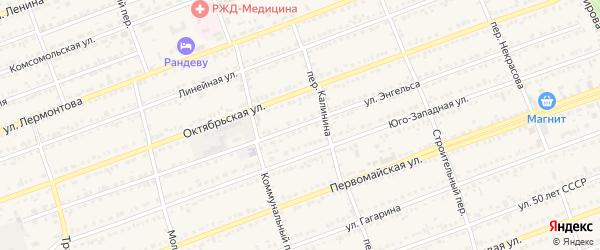 Улица Энгельса на карте села Кулунды с номерами домов