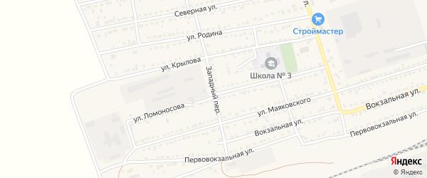 Западный переулок на карте села Кулунды с номерами домов