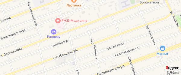 Переулок Калинина на карте села Кулунды с номерами домов