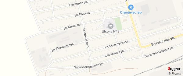 Улица Ломоносова на карте села Кулунды с номерами домов