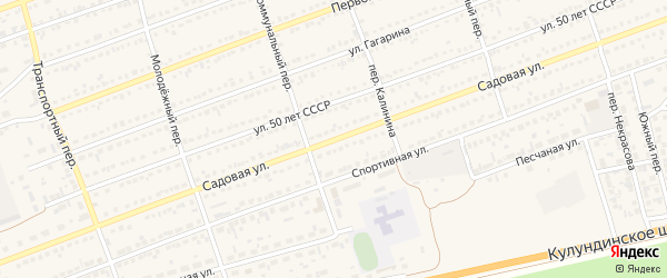 Садовая улица на карте села Кулунды с номерами домов
