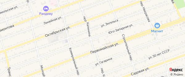 Юго-Западная улица на карте села Кулунды с номерами домов