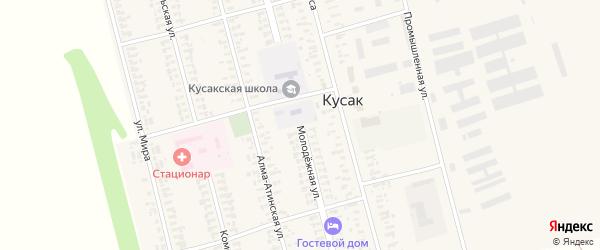 Молодежная улица на карте села Кусака с номерами домов