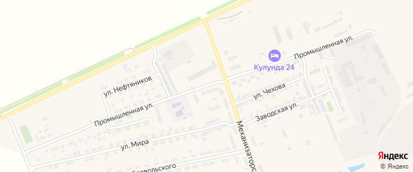 Промышленная улица на карте села Кулунды с номерами домов